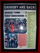 Grimsby Town 3 Forest Green Rovers 1 - 2016 play-off final - framed print