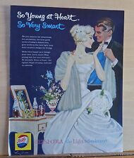1959 magazine ad for Pepsi Cola - Roy Besser art, woman in white, Smartness