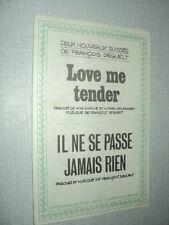 FRANCOIS DEGUELT PARTITION MUSICALE FRANCE AFRIQUE BELGIQUE LOVE ME TENDER