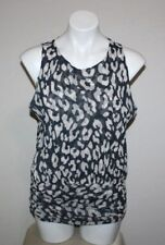 SWEET PEA by STACY FRATI Womens Sleeveless Nylon Shirt Top Size XL