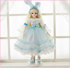 BJD Doll 1/3 Ball Jointed Girl Dolls Free Face Wig Clothes Makeup Toy FULL SET