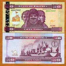 Eritrea, 50 Nakfa, 2004, P-7, UNC