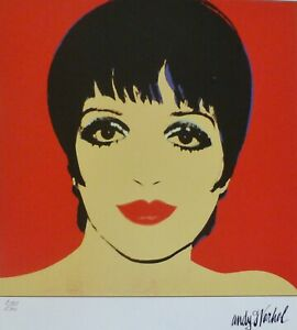ANDY WARHOL LIZA MINNELLI TYP A SIGNED HAND NUMBERED 2169/2400 LITHOGRAPH