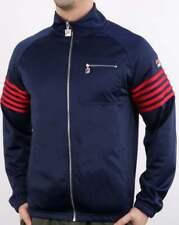 Fila Five Stripe Track Top in Navy & Red - 5 stripe tracksuit jacket, retro 80s