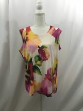 Essentials by Milano Floral Print Top Size XL