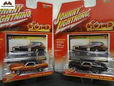 Johnny Lightning 1973 Pontiac GTO Set of 2 2016 Classic Gold R2 A&B - 17J