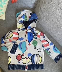 NEXT UK 2t 3t 4t 2-3y hot air balloon polka dot cotton hoodie Puff Sleeve