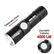 Adjustable LED Zoom 4000 Lm Mini USB Rechargeable Flashlight Torch Lamp Light U#