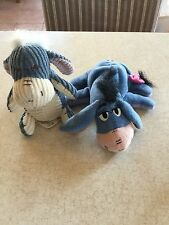 2 Disney Eeyore Plush Stuffed Animals