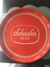 New listing Vintage Schaefer Beer Serving Tray Red Style