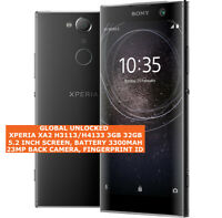 "SONY XPERIA XA2 H3113/H4133 3gb 32gb 23mp Fingerprint 5.2"" Android Smartphone 4g"