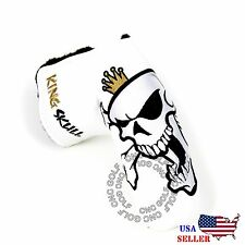 King Skull Headcover Putter Cover For Scotty Cameron Taylormade Odyssey Blade