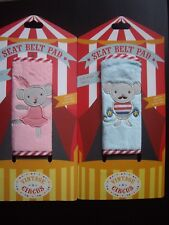 2 X PINK CAR SEAT BELT BABY CARRIER STRAP PADS HARNESS COVER BALLERINA MOUSE