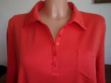 GERRY WEBER 46 neuwertiges Poloshirt 100% Baumwolle orange Stoffkragen