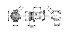 Peugeot 207 208 307 308 3008 508 5008 AIR-CON COMPRESSOR Peugeot Partner