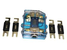 60A Dual Digital Golden Anl Distribution Block Fuse Holder 0-4 Gauge Fh062-60A