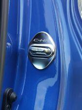 TOYOTA C-HR chr + Valvole 4 Pezzi decorazione serratura porte in acciaio silver