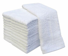 PACK OF 12 WHITE FACE CLOTHS TOWELS 100% EGYPTIAN COTTON FLANNELS WASH 500 GSM