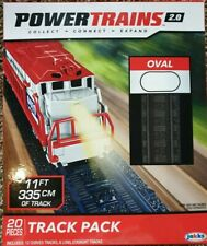 New POWER TRAINS 2.0 OVAL TRACK PACK 20 PIECES 11 FT OF TRACK by JAKKS