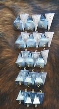 Lot of 25 Pyramid Fishing sinkers 5 of each 1, 1.5, 2, 2.5, 3 oz weights