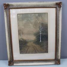 GOUACHE HINTERGLAS EINGERAHMT, SIGNIERT, 57 x 65 cm