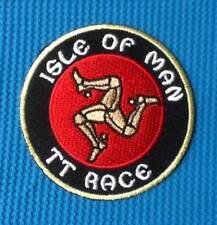 ISLE OF MAN TT RACE BIKER BIKE RACING MOTORBIKE SOW SEW ON IRON ON PATCH BADGE