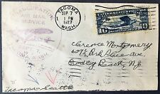 1927 cover Inauguration Air Mail service Tacoma WA to NY