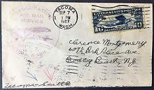 Cover 1927 inauguration Air Mail service Tacoma WA to NY