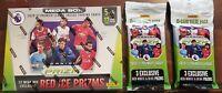 2020-21 (1) Panini Prizm Premier League New Soccer Mega Box Prizms Red Ice (Lot)