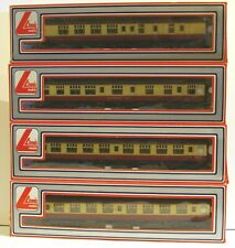 Lima OO Gauge Rake of 4 BR Mk1 Red & Cream Coaches In Excellent Boxed Condition