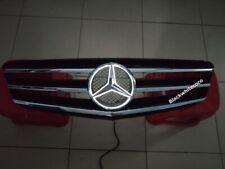 BLACK Front Grill +LED Emblem For Mercedes-Benz C Class W204 C300 C350 2008-14