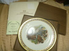 Lenox Boehm Woodland Wildlife Beavers Collectible Plate original Box Paper 1977