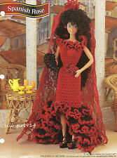 """SPANISH COSTUME""~Crochet PATTERN~PATTERN ONLY fits BARBIE FASHION DOLL"