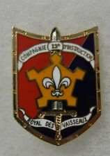 ORIGINAL Vintage FRENCH ARMY 12 INSTRUCTION COMPANY DISTINCTIVE INSIGNIA BADGE