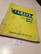 Yamaha Parts list 50 MF2 MJ2 trés rare , liste pièces détachées 1967