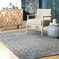 nuLOOM Modern Francesca Linked Diamonds Area Rug in Grey