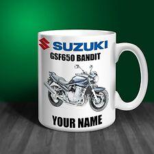 Suzuki GSF650 Bandit Motorbike Personalised Ceramic Mug Gift (MB070)