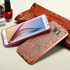 Rose Gold Bling Diamond Glitter TPU Case Cover For Samsung Galaxy S4/S5/S6/S7