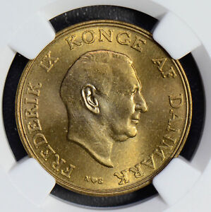 Denmark 1954 N S Krone NGC MS65 rare in this grade NG0556 combine shipping