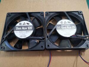 120mm x 120mm San Ace 25 Fans 24v 90mA Electronic Test Gear Fans 2pcs
