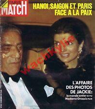 Paris Match n°1232 du 16/12/1972 Jackie Onassis Maharadjah Michelin Agnelli