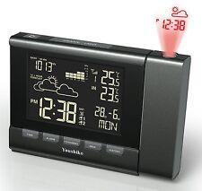 Reloj Despertador estación meteorológica con control de radio Proyección (versión de Reino Unido)