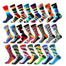 Men's Funny Socks Diamond Pattern Argyle 3D Tube Geometric Combed Cotton Socks