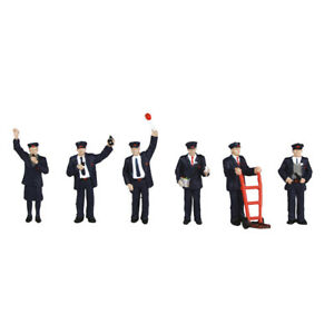 BACHMANN SCENECRAFT 36-043 STATION STAFF PACK OF 6 OO GAUGE 1:76 SCALE