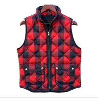 J. Crew Vest Buffalo Check Plaid Quilted Puffer Excursion Women's Size Medium M