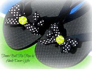Flip Flops Tennis Ball Tennis Fan Tennis Flip Flops Gift Captain Team Polka Dot