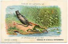 CONTES. STORY. FABLES DE LAFONTAINE. LA GRENOUILLE ET LE RAT. THE FROG AND RAT.