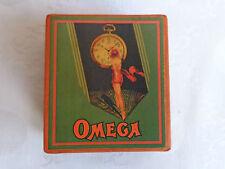 "VINTAGE RARE ADVERTISING SOUVENIR CARDBOARD BOX CASE FOR POCKET WATCH ""OMEGA"" №2"