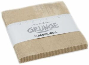 "Grunge Tan Moda Charm Pack 42 100% Cotton 5"" Precut Quilt Squares by BasicGrey"