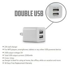 2.1A (5W 10W) Double USB port White wall cube for iPhone 6,7,8,X,XR,XS,iPad MINi